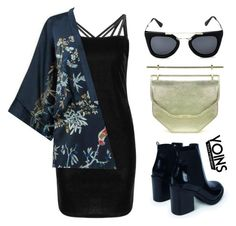 YOINS by baludna on Polyvore featuring polyvore, fashion, style and Boohoo