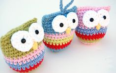 carril rayuela: Crochet Pattern Ornamento del búho