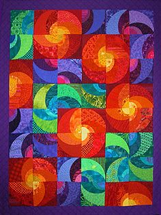 Radiant Suns Pattern - Quilting by the Bay in Panama City, Florida -- Love the pattern and color play. Wow!