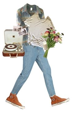 """""""flowers in her hair"""" by kampow ❤ liked on Polyvore featuring Patagonia, Alexander Wang, OKA, Converse and vintage"""