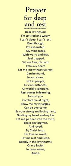 This prayer will help you to sleep