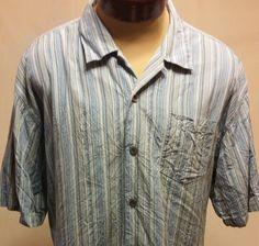 3bb687da Tommy Bahama 100% Silk Casual Short Sleeve Button Down Hawaiian Shirt Size  XL #TommyBahama