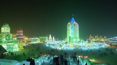 Ice sculptures are common in wedding parties and other occasions, but nothing you've seen before can compare to the ones displayed every year in the city of Harbin in China. While the place is cursed with terrible winters, the tough locals have managed to make the most of it.