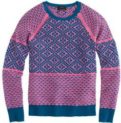 Handkerchief Fair Isle sweater