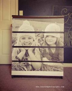 Personalize with a blown-up family photo