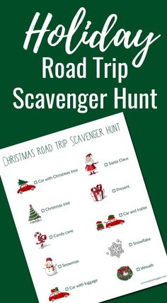 A free printable Christmas themed road trip scavenger hunt. Plus,how to keep siblings from fighting in the car. #ad #FallForPennzoil