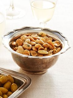 """Thyme-Roasted Marcona Almonds / from Ina Garten's """"Easiest-Ever Thanksgiving Recipes"""" - via GH"""