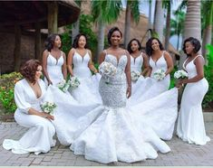 Luxury African Lace Pearls Mermaid Wedding Dresses 2020 Beaded Sexy See Thru Bridal Gowns Plus Size Vestidos De NoviaActual Images: NoNeckline: V-neckSleeve Length(cm): SleevelessWedding Dress Fabric: Embroidered Lace on NetTrain: Chapel TrainFor . Lace Mermaid Wedding Dress, Dream Wedding Dresses, Bridal Dresses, Stunning Wedding Dresses, White Bridesmaid Dresses, Royal Blue Bridesmaids, Wedding Planners, The Dress, Bridal Showers