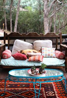 . Adding Pizzaz to Your Yard with Outdoor Rugs and Pillows #Outdoor_Rugs…
