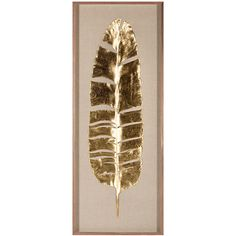 Natural Curiosities Banana Leaves - Framed Gold Leaf ($3,738) ❤ liked on Polyvore featuring home, home decor, wall art, art, natural curiosities, gold leaf wall art and framed wall art