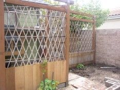 Animal enclosure (can grow fruit vines on it!). For kiwis, raspberries, or grapes, and to pretty up the chicken yard.