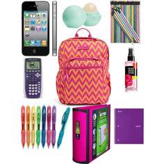 What's in Hayley's bookbag Back To School Supplies For Teens, Cool School Supplies, College School Supplies, Kids Lunch For School, High School Hacks, High School Outfits, Life Hacks For School, School Survival Kits, School Kit