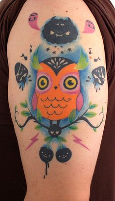 one of my fave owl tattoos evarrrr.