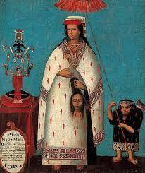204 – (1538) La defensa de Inés Huaylas. Francisco de Ampuero, esposo de Inés Huaylas Yupanqui, suscribe una probanza, tratando de explicar la pasada conducta de su esposa, manifiesta que Inés Huaylas Yupanqui había tenido noticias en 1534, que su media hermana Azarpay tramaba una rebelión y la muerte de los principales conquistadores y sus aliados, informado en su oportunidad el marqués gobernador ordeno de inmediato la muerte de la valiente princesa inca Azarpay.