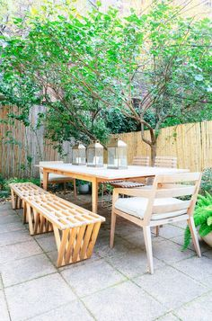 Tour an Amazing Brooklyn Townhouse That You Can Rent! via @domainehome  THAT BENCH!!!
