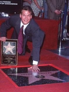 Patrick Swayze at his Walk of Fame ceremony