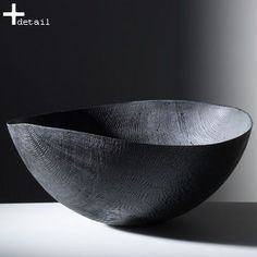Bowl, blackened oak with wormholes, brushed, sandblasted | Friedemann Bühler, Germany.: