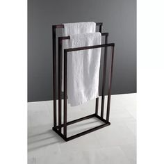 Beautiful Edenscape Pedestal Free Standing Towel Stand by Kingston Brass top rated furniture sale from top store Welded Furniture, Steel Furniture, Diy Furniture, Furniture Design, Hanging Bath Towels, Towel Racks For Bathroom, Bathroom Storage, Bathroom Interior Design, Interior Decorating
