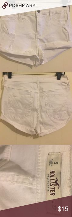 Hollister High Rise Short Used only like once or twice   No flaws   Price Negotiable Hollister Shorts Jean Shorts
