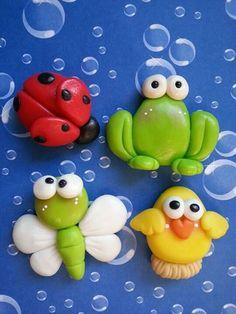 Polymer Clay Ornaments, Cute Polymer Clay, Cute Clay, Polymer Clay Miniatures, Polymer Clay Projects, Polymer Clay Creations, Clay Magnets, Kids Clay, Fondant Animals