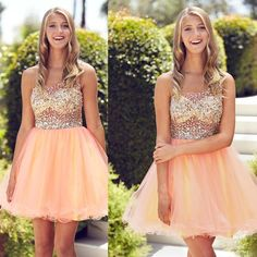Tidetells Sexy See Throught Homecoming Dresses One shoulder Coral Ruffles Beading Crystal Graduation Dresses