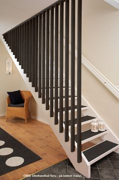 24 Best Ideas For Basement Stairs Diy Railings Stairways Stair Railing Design, Home Stairs Design, Stair Handrail, Staircase Railings, Interior Stairs, House Design, Railing Ideas, Bannister, Diy Interior