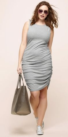 Plus Size Side Ruched Dress