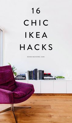 16 astoundingly chic IKEA hacks Give your home a refresh with these 16 IKEA hacks. Take on a DIY project and turn IKEA shelving and cabinets into chic décor. Ikea Hacks, Diy Hacks, New Swedish Design, Swedish Interior Design, Diy Hanging Shelves, Diy Casa, Hemnes, Diy Home Decor Projects, Diy Interior