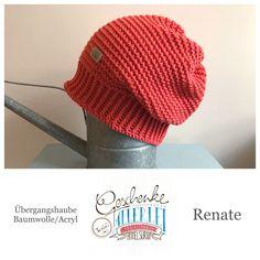 Tunella's Geschenkeallerlei präsentiert: das ist Renate, eine geniale gehäkelte Haube/Mütze aus einer Baumwolle/Acryl-Mischung - Du kannst dich warm anziehen, dank sorgfältigem Entwurf, liebevoller Handarbeit und deinem fantastischen Geschmack wirst du umwerfend aussehen. #TunellasGeschenkeallerlei #Häkelei #drumherum #Beanie #Haube #Mütze #handgemacht #Geschenk #Renate