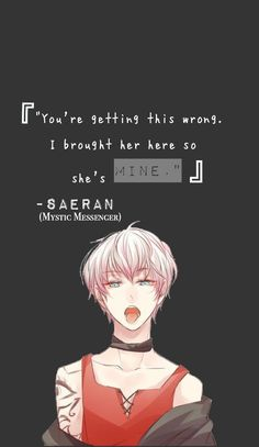 Saeran's quote iphone wallpaper By: The first person to post this and it's me! – Best Art images in 2019 Mystic Messenger, Iphone Wallpaper Pokemon, Iphone Wallpapers, Jumin X Mc, Black Butler Wallpaper, Anime Lock Screen, Saeran Choi, Yuno Gasai, Deadman Wonderland