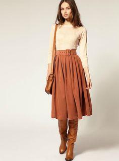 terracota skirt Más