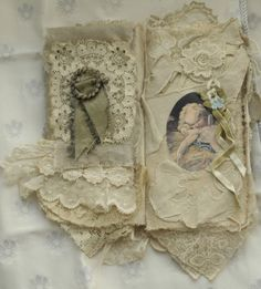 Mixed-Media-Fabric-Collage-Book-of-French-Cherubs