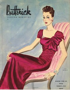Instant Download 1930s Butterick Winter 1938 Fashion Magazine