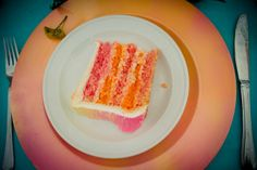We love the idea of breaking tradition with a sweet surprise like brightly colored wedding cake!