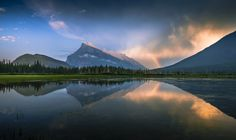 Mt. Rundle and Vermillion Lake by David Dai - Photo 127131673 - 500px