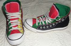 Converse Chuck Taylor All Star Men's Fashion Sneakers Shoes S~7 Multi~Color Punk #Converse #AthleticSneakers