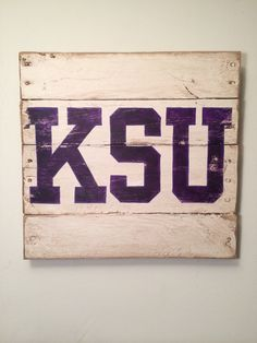 Kansas State University wall hanging on Etsy, $40.00