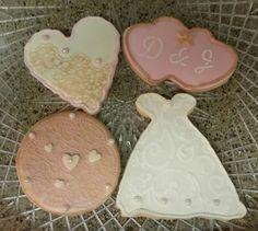 Vintage Bridal Shower Cookies, Wedding Favor Cookies