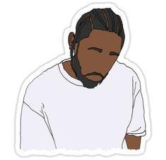 'Kendrick Lamar' Sticker by parttimetrash Kendrick Lamar Art, Cartoon Painting, Black Cartoon, Lil Pump, Cartoon Drawings, Art Drawings, Wall Stickers, Laptop Stickers, Dress Shirts For Women