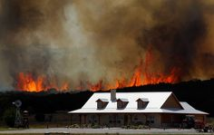 Too Close To Home---Photograph by Tom Pennington...Texas wildfires, Strawn, Texas