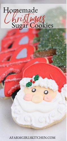 Roll Out Sugar Cookies, Rolled Sugar Cookie Recipe, Iced Cookies, Royal Icing Cookies, Sugar Cookie Recipe For Decorating, Cookie Decorating, Cookie Recipes, Grandma's Recipes, Decorating Ideas