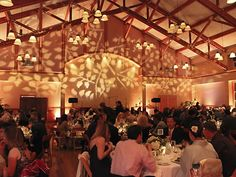 Golden leaves wedding lighting by Love in the Mix, San Francisco Bay Area.