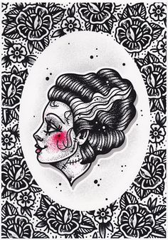 CREEP HEART BRIDE OF FRANKENSTEIN PRINT $15.00 #creepheart #artprint #brideoffrankenstein