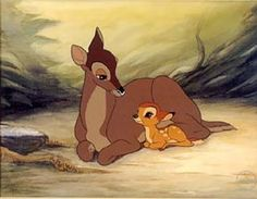 *BAMBI and his MOTHER ~ Bambi , 1942 .Young Bambi: What happened, Mother? Bambi's Mother: Man was in the forest. Bambi Disney, Disney Pixar, Disney E Dreamworks, Disney Films, Disney Animation, Disney Love, Disney Magic, Disney Art, Disney Characters