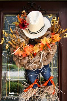 Are you ready to decorate for fall? Need an inexpensive but cute Fall Wreath idea? Make Fall Scarecrow Wreaths for under $12!