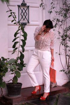 Divina Ejecutiva: Mis Looks - Obsesión naranja! #divinaejecutiva #officeattire #workinglook #workinggirl #ootd #summer #tangerine #lierka #zara #whitepants