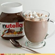Nutella hot chocolate! It's incredible!!