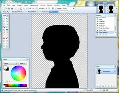 create a computer generated silhouette