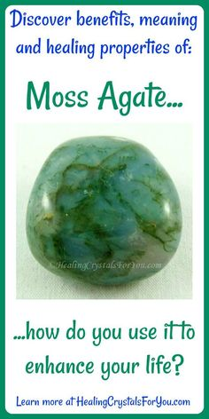 Crystal Properties and Meanings Moss Agate #MossAgate is a #groundingcrystal that corrects #leftrightbrainimbalance aids #creativity and attracts #naturespirits