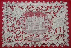 French Chateau Laces © J. Ames 2013 Imagine owning 18 chateaux! This is the happy circumstance of a lace collector in Maine. Crochet Motif, Irish Crochet, Bruges Lace, Art Du Fil, Lace Veils, Textiles, Art Textile, Linens And Lace, Needle Lace